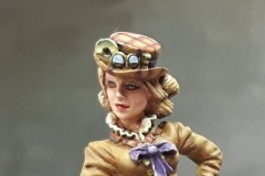 Bomshell Miniatures Victoriana with plaid hat.