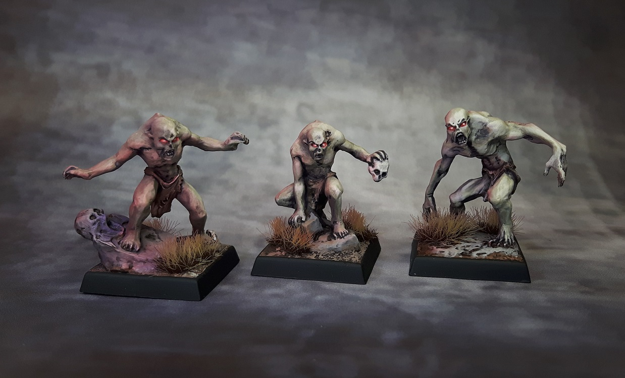 Three painted ghouls